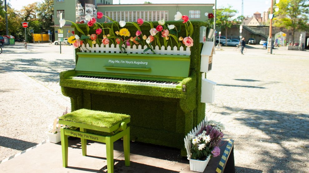 "Play Me I'm Yours Augsburg –  ""The Garden Piano"""